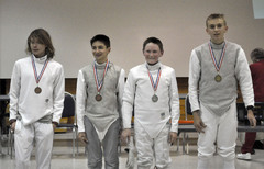 Junior Foil Medalists